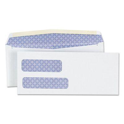 "Universal 36301 Business Envelopes, Double Window, #9, Blade Flap, Gummed Closure, 3.88"" x 8.88"", White - 500 / Case"