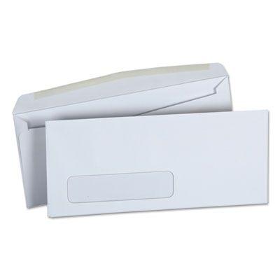 "Universal 36321 Business Envelope with Window, #10, Monarc Flap, Gummed Closure, 4.13"" x 9.5"", White - 500 / Case"