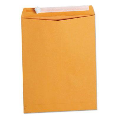 "Universal 40099 Peel Seal Strip Catalog Envelope, #13-1/2, Square Flap, 10"" x 13"", Golden Brown - 100 / Case"