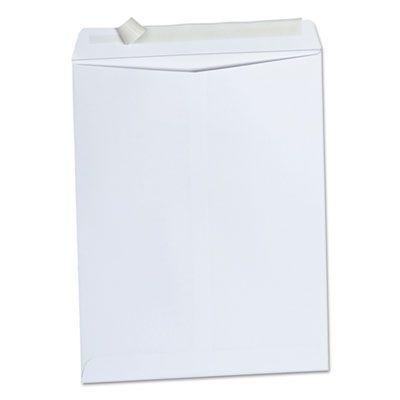 "Universal 40101 Peel Seal Strip Envelope, #13-1/2, Square Flap, 10"" x 13"", White - 100 / Case"