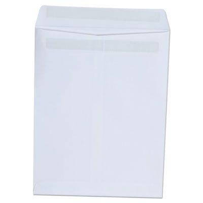 "Universal 42101 Self-Stick Catalog Envelope, #10-1/2, 9"" x 12"", White - 100 / Case"
