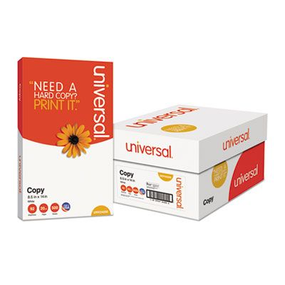 "Universal Office 24200 Copy Paper, 92 Bright, 20 Lb, 8.5"" x 14"", White - 5000 / Case"