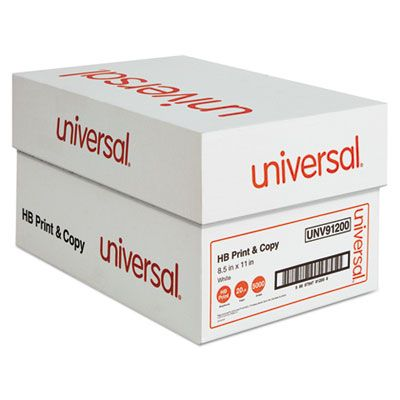 "Universal Office 91200 Copy / Multipurpose Paper, 95-96 Bright, 20 Lb, 8.5"" x 11"", White - 5000 / Case"