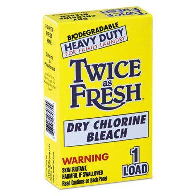 Vend-Rite 2979646 Twice as Fresh Heavy Duty Dry Chlorine Bleach Powder, 1.8 oz Coin-Vend Box for 1 Load - 100 / Case