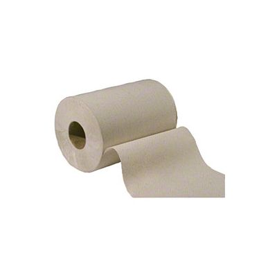 "Vintage 410108 Hardwound Roll Paper Hand Towels, 7-7/8"" x 350', Brown - 12 / Case"