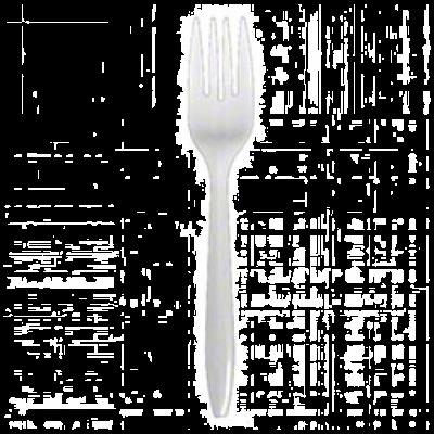 Vintage V175001 Plastic Forks, Polypropylene, White - 1000 / Case