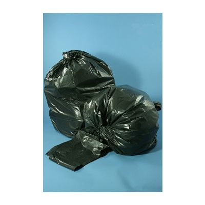 "Vintage VL434715B 56 Gallon Trash Can Liners / Garbage Bags, 43"" x 47"", Black - 100 / Case"