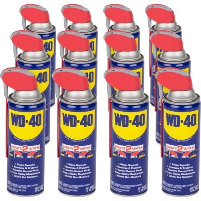 WD-40 Company 490057 Lubricant with Smart Straw, 12 oz Can - 12 / Case