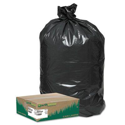"Webster RNW1TL80 Earthsense 33 Gallon Large Trash and Yard Bags, 32.5"" x 40"", Black - 80 / Case"