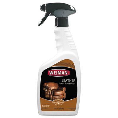 Weiman 107 Leather Cleaner & Conditioner, Floral, 22 oz Spray Bottle - 6 / Case