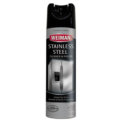 Weiman 49 Stainless Steel Cleaner & Polish, 17 oz Spray Can - 6 / Case