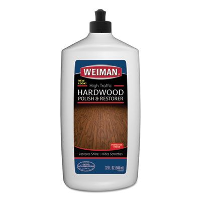 Weiman 523 High Traffic Hardwood Polish & Restorer, 32 oz Squeeze Bottle - 6 / Case