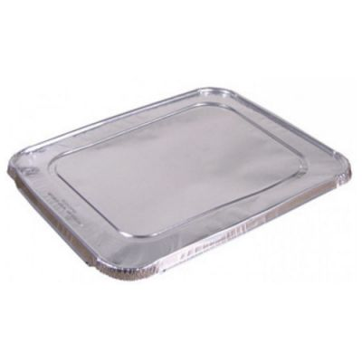 Western Plastics 5001 Foil Lid for 1/2 Size Steam Table Pans, Silver - 100 / Case