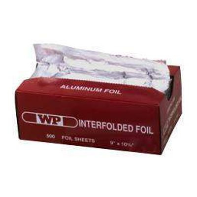 "Western Plastics 632 Interfolded Aluminum Foil Sheets, 9"" x 10.75"", Silver - 3000 / Case"