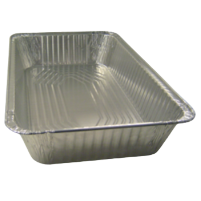 Western Plastics 5130 Full Size Aluminum Foil Steam Table Pan, Deep, 346 oz, Silver - 50 / Case