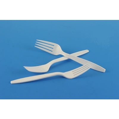 White Plastic Forks, Extra Heavyweight Polystyrene, Boxed - 1000 / Case