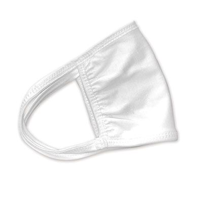 Cotton Face Mask with Antimicrobial Finish, White - 10 / Case