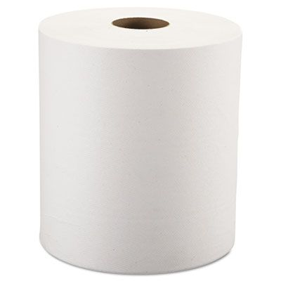 "Windsoft 12906B Hardwound Roll Paper Towels, 8"" x 800', White - 6 / Case"