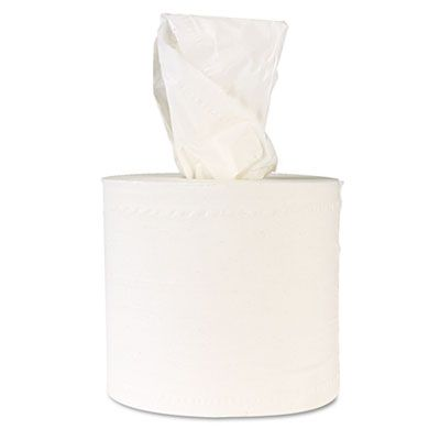 """Windsoft 1420B Center Pull Roll Paper Hand Towels, 2 Ply, 8"""" x 742.5', White - 6 / Case"""