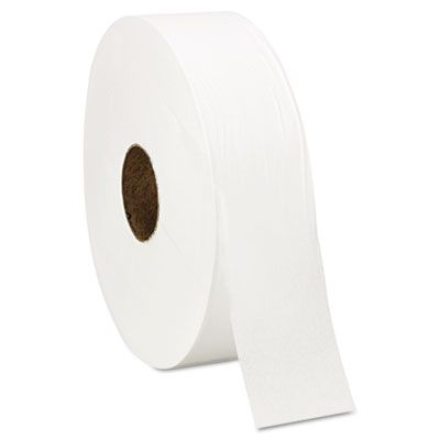 "Windsoft 201 Jumbo Roll Toilet Paper, 1 Ply, 12"" x 4000', White - 6 / Case"