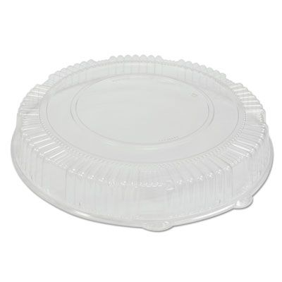 "WNA A16PETDM Dome Lids for CaterLine 16"" Plastic Catering Trays, Clear - 25 / Case"