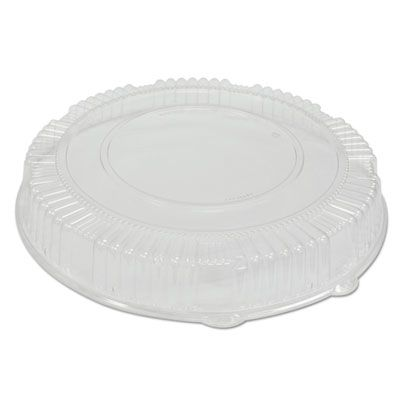 "WNA A18PETDM Dome Lids for CaterLine 18"" Plastic Catering Trays, Clear - 25 / Case"