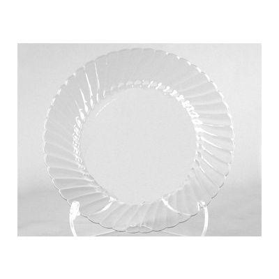 """WNA CW9180 9"""" Classicware Plate, Rigid Plastic, Clear - 180 / Case"""