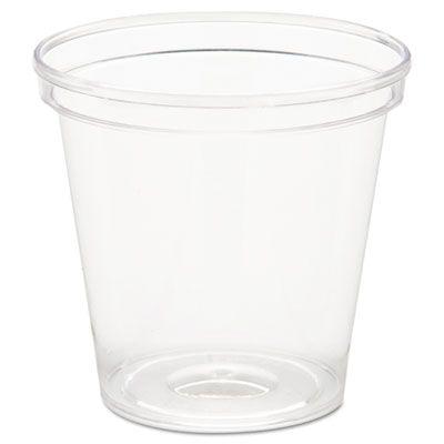 WNA P10 Comet 1 oz Plastic Portion Cups / Shot Glasses, Clear - 2500 / Case