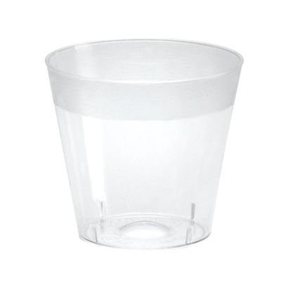 WNA SG10 1 oz Plastic Shot Glass Cups, Polystyrene, Clear - 2500 / Case