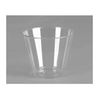 WNA T9S Cometware 9 oz Squat Rigid Plastic Tumbler, Clear - 500 / Case
