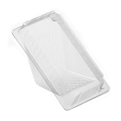 "WNA 21508 SandWedge Large Plastic Sandwich Wedge Food Container, OPS, 3.33"" x 6.46"" x 3.7"", Clear - 500 / Case"