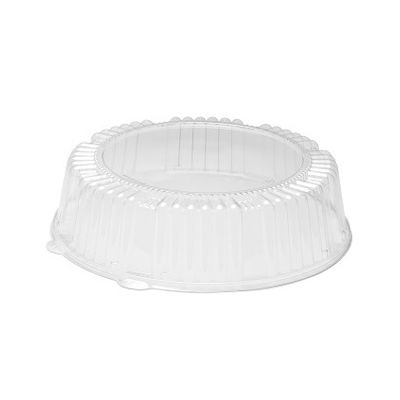 """WNA A12PETDM Dome Lid for CaterLine 12"""" Plastic Catering Trays, PET, Clear - 25 / Case"""