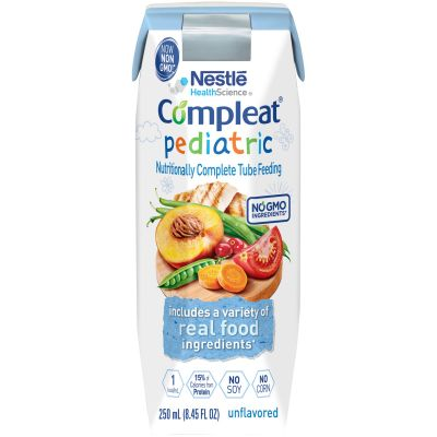 Nestle Health 10043900142408 Compleat Pediatric Tube Feeding Formula for 1-13 Yrs, Unflavored, 8.45 oz Carton - 24 / Case