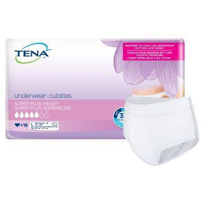 """TENA 54286 Women Super Plus Absorbent Underwear, Large (37 to 50""""), Heavy Absorbency - 64 / Case"""