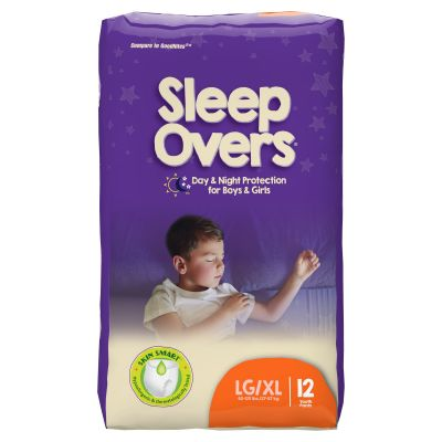 First Quality SLP05302 Sleep Overs Absorbent Overnight Underwear, Youth Unisex, Large / X-Large (60 to 125 lbs), Heavy Absorbency - 12 / Case