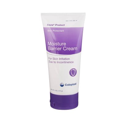 Coloplast 1880 Baza Protect Moisture Barrier Cream for Incontinence Skin Irritation, CHG Compatible, 5 oz Tube - 12 / Case