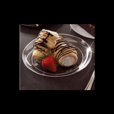 "EMI Yoshi YCW6 Clear Ware 6"" Plastic Dessert Plates - 500 / Case"