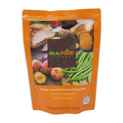 Nutricia 176990 Real Food Blends Tube Feeding Formula, Turkey / Sweet Potatoes / Peaches, 9.4 oz Pouch - 12 / Case