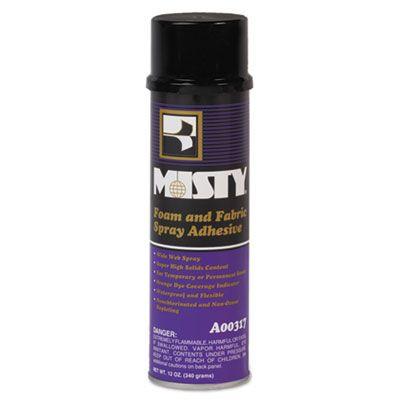 Zep 1028374 Misty Foam and Fabric Spray Adhesive, 12 oz Aerosol - 12 / Case