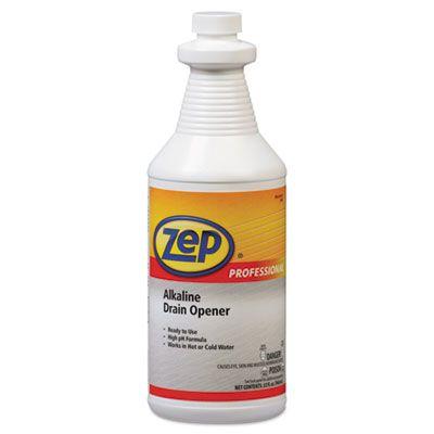 Zep 1041423 Alkaline Drain Opener, Quart - 12 / Case