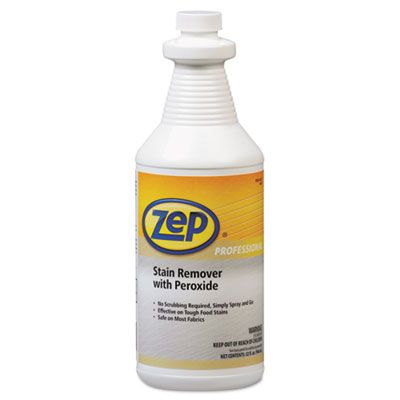 Zep 1041705 Stain Remover with Peroxide, Quart Bottle - 6 / Case