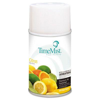 Zep 1042781 TimeMist Metered Aerosol Air Freshener Refill, Citrus Scent, 6.6 oz - 12 / Case