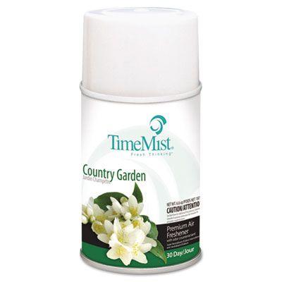Zep 1042786 TimeMist Metered Aerosol Air Freshener Refill, Country Garden Scent, 6.6 oz Can - 12 / Case