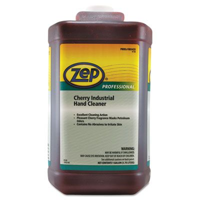 Zep 1045073 Professional Industrial Hand Cleaner, Cherry, 1 Gallon Bottle - 4 / Case