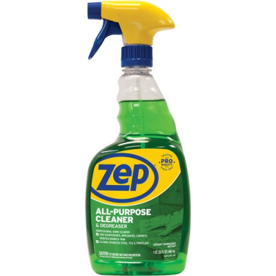 Zep ZUALL32 All-Purpose Cleaner & Degreaser, 32 oz Spray Bottle - 12 / Case