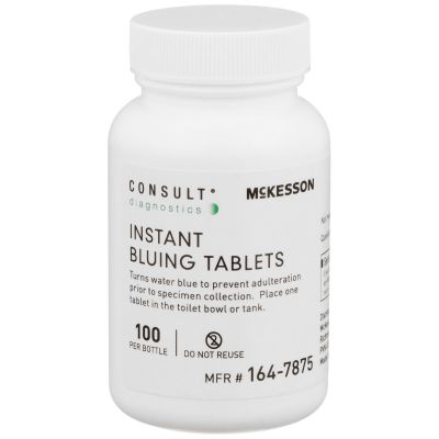 McKesson 164-7875 Consult Instant Bluing Tablets, For Use in Toilet Water, Blue - 100 / Case