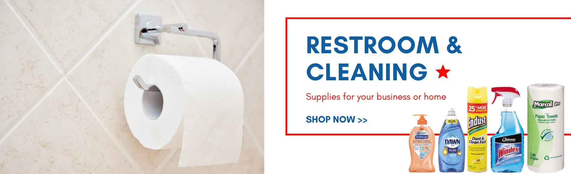 Buy restroom and cleaning supplies at US Casehouse
