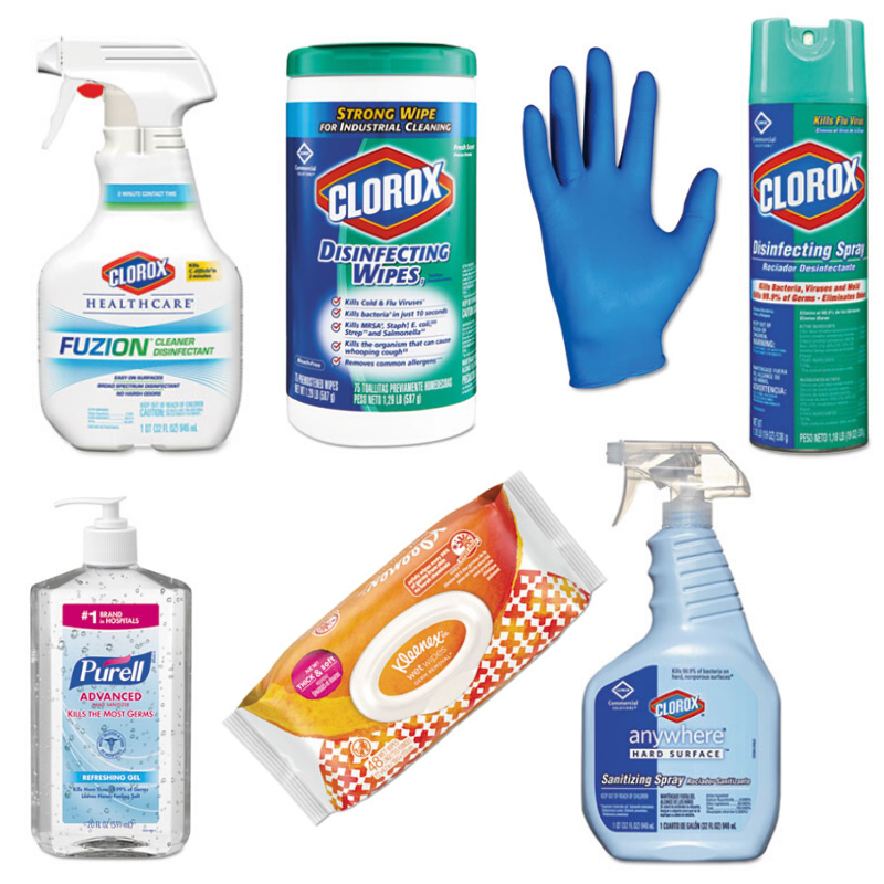 Disinfect and clean to help prevent the spread of germs