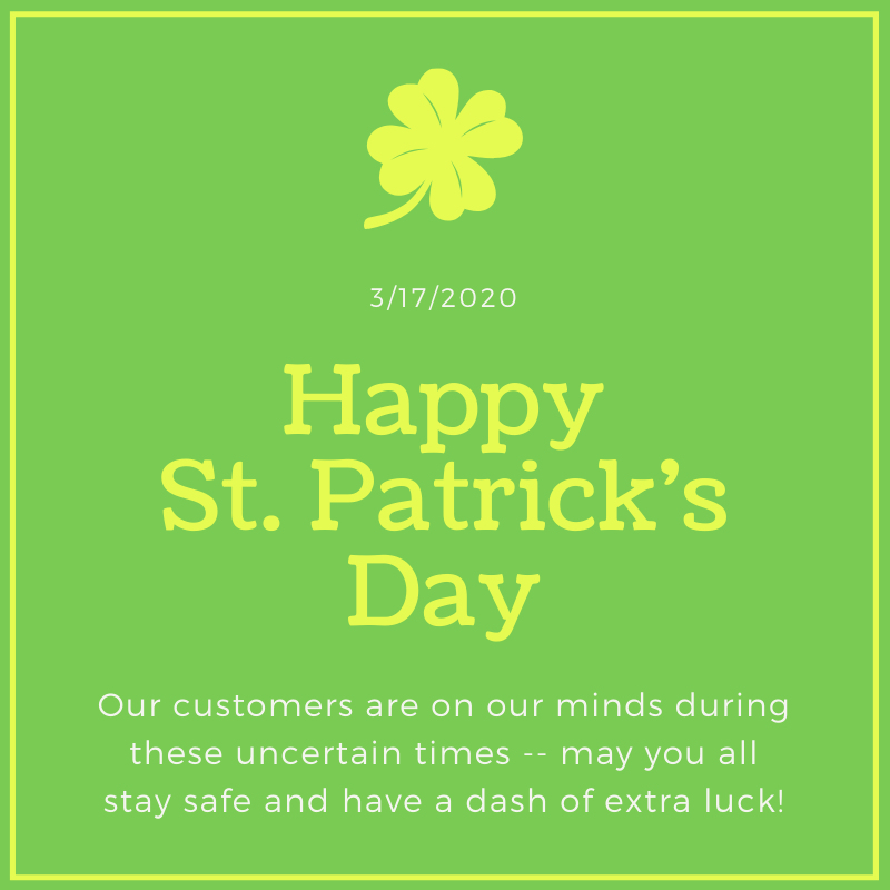 Happy St. Patrick's Day from US Casehouse!